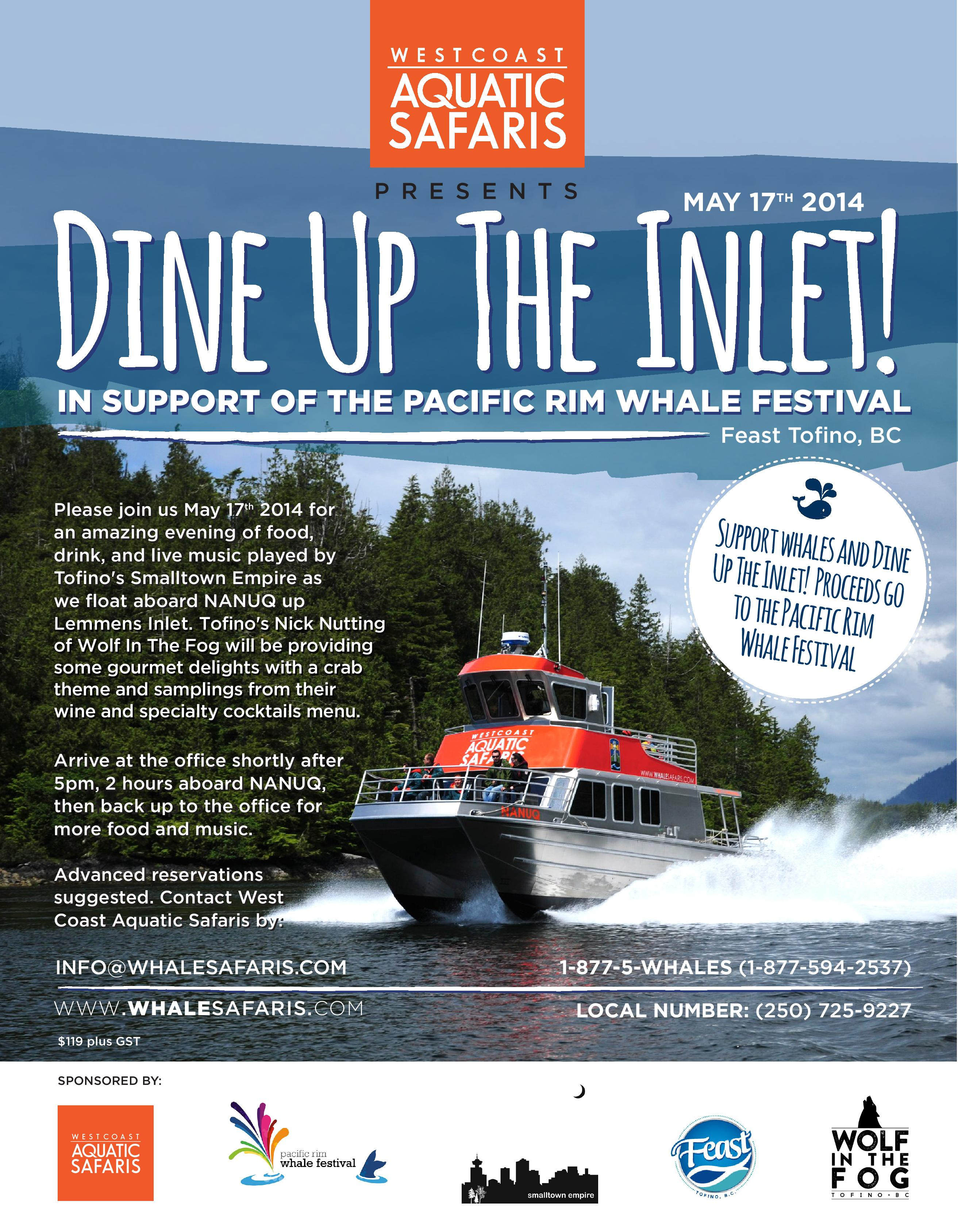 Dine Up The Inlet Poster-2014