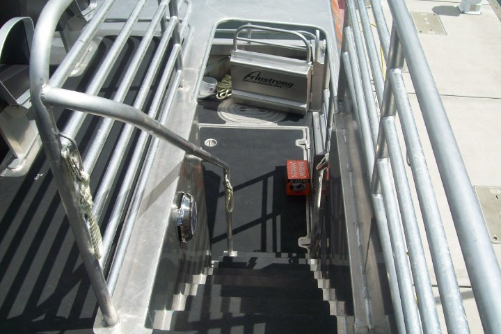Staircase to the upper deck