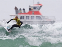 Photo of the Week: Surf Competitor in Chesterman Beach & Whale Watching Boat, NANUQ