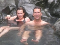 Soaking in the Hot Springs