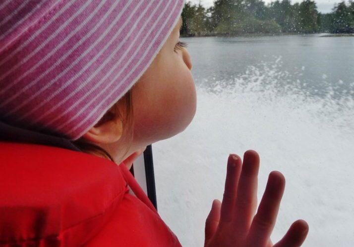 Whale watching tour child passenger